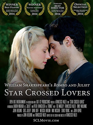 Star Crossed Lovers Romeo and Juliet Poster by Open Iris Entertainment